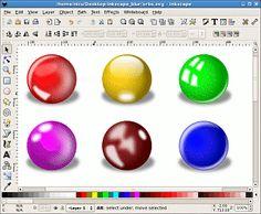 3D balls  http://howto.nicubunu.ro/inkscape_blur_orbs_3d_text/