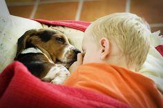 Beagles (or Bassetts) and kids go together like cake and icecream.