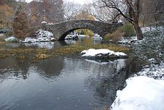 Photos of Central Park in the snow, Manhattan, New York, NY, US, December 2007