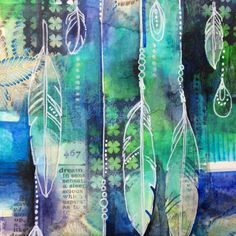 art journal mixed media inspiration Dream Catcher Collage by Jennifer Currie Mixed Media Painting, Mixed Media Collage, Collage Art, Painting Collage, Mixed Media Artwork, Acrylic Paintings, Kunstjournal Inspiration, Art Journal Inspiration, Art Journal Pages