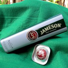 Jameson Irish Whiskey Collectible Tin Box Container 750ml 80 Proof Dual Patterns