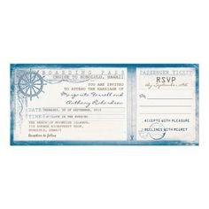 Cruise Ship Ticket Invitation and RSVP, Printable Ticket ...