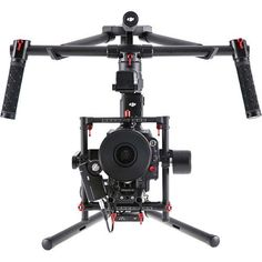 The Ronin-MX from DJI is dual-use gimbal suitable both for mounting on the Matrice 600 aerial platform as well as deployment closer to the ground. Improving over the Ronin-M, it features magnesium con