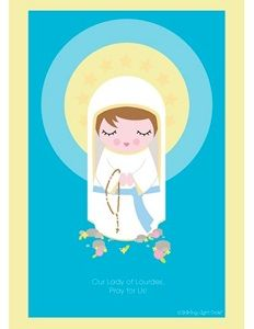 Our Lady of Lourdes of France printable, free Catholic printables! #catholic #homeschooling #miracles #blessedvirginmary