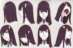 Satsuki drawings by Kill la Kill character... | Worshiping Satsuki's eyebrows