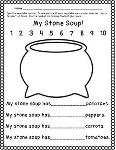 Stone Soup Literacy and Math Activities – Real Time – Diet, Exercise, Fitness, Finance You for Healthy articles ideas Fairy Tale Activities, Book Activities, Preschool Activities, Reading Resources, Winter Activities, Grammar Activities, Educational Activities, Small Group Activities, Stone Soup