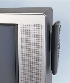 Velcro used to secure TV remote. Genius!