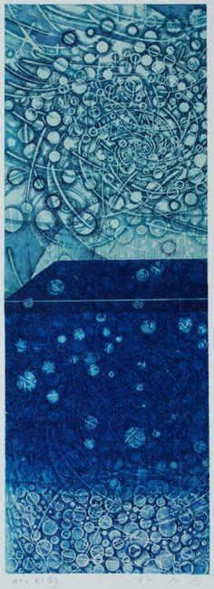 takahikohayashi:    水の幻影An illusion of waterpainting on my original printed paper collage林孝彦 HAYASHI Takahiko 2010