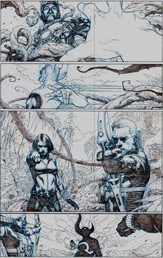 First Look: The Avengers # 1 Art Intérieur par Jérôme Opena - Avengers - Comic Vine Comic Book Artists, Comic Artist, Comic Books Art, Storyboard, Art And Illustration, Comic Book Layout, Comic Kunst, Bd Comics, Art Reference
