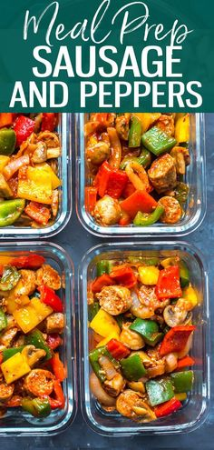 This Meal Prep Sausage Peppers and Onions Skillet with bell peppers, mushrooms a. This Meal Prep Sausage Peppers and Onions Skillet with bell peppers, mushrooms a. Sausage RecipesThis Meal Prep Sausage Peppers and Onions Skillet with bell peppers, mus Easy Healthy Recipes, Lunch Recipes, Dinner Recipes, Cooking Recipes, Healthy Freezable Meals, Meal Prep Recipes, Simple Healthy Meals, Paleo Recipes, Healthy Food