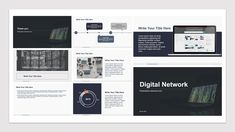 Digital Network | Presentation Elements | Free powerpoint keynote template design #free #powerpoint #keynote #templates #template #design Powerpoint Template Free, Keynote Template, Picture Layouts, Text Pictures, Infographic Templates, Educational Technology, Color Themes, Presentation Templates, Free Photos