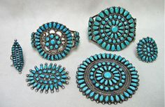 have a whole set of Navajo and Zuni jewelry...