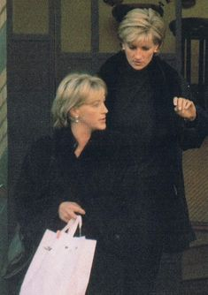 Diana with a friend shopping
