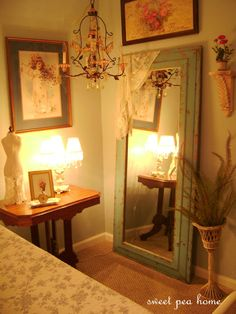 Full Length/ Mirror Picture Arrangement want to do this with a screen door mirror