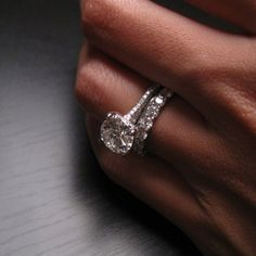 Oh my. I'm in love with that band. Ring is gorgeous but I'd want a halo around it. 5 year Anniversary inspo? Lol