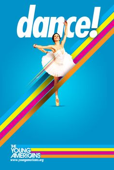 a slightly 70's approach - bright coloured dance poster
