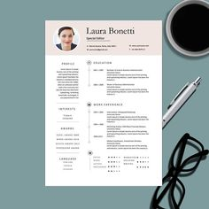 Modern Professional Resume Template For Ms Word  Creative Resume