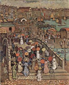 Maurice Brazil Prendergast (American, 1858-1924)  Ponte della Paglia, Venice  1899  Philips Gallery, DC
