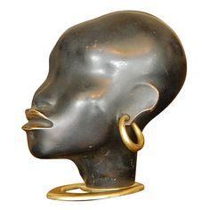 Austrian Sculptor Hagenauer - Bronze Deco Bust African Woman. Signed. http://www.1stdibs.com/furniture/more-furniture-collectibles/sculptures/hagenauer-deco-african-woman-bronze-head-signed/id-f_233691/