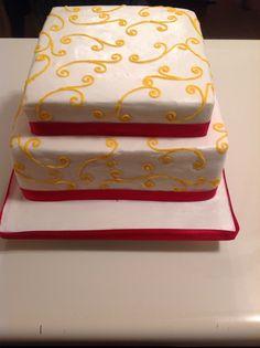 Swirl design on cake