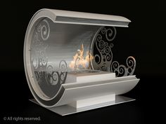 Ivy ethanol fireplace by Flammengo. Portable Fireplace, Ethanol Fireplace, Patterned Sheets, Classic Interior, Moonlight, Floor Lamps, Cool Stuff, Metal, Ideas Para
