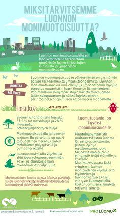luonnon monimuotoisuus?   @Piktochart Infographic