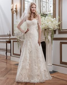Justin Alexander wedding dresses style 8788 Venice lace A-line emphasized by a sweetheart neckline.