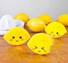 Super cute lemon cookies ... will make them with this lemon shortbread recipe: http://www.food.com/recipe/lemon-shortbread-13801