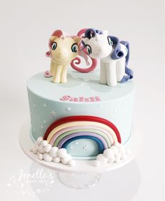 My Little Pony Cake. By Jenelle's Custom Cakes.