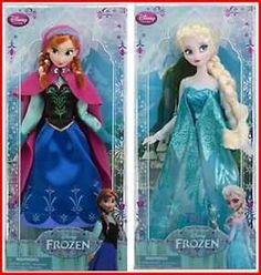 """DISNEY STORE FROZEN ELSA AND ANNA CLASSIC 12"""" DOLLS REVIEW"""
