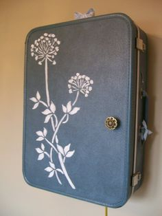 Vintage suitcase jewelry display