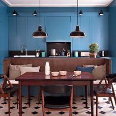 Une #cuisine ouverte moderne et fonctionnelle #bluekitchen
