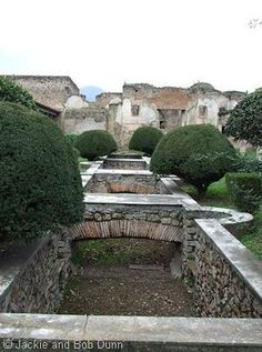 Water feature / fish pond in the garden of Julia Felix, Pompeii, Italy (photo © Jackie and Bob Dunn)