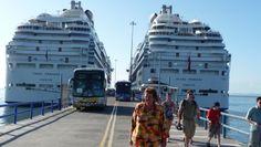 Two Princess ships in Puntarenas: Coral Princess and Island Princess