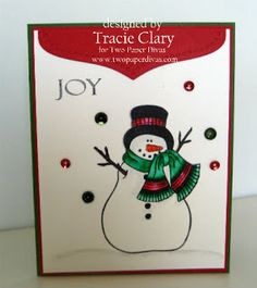 Snowman stamp by Two Paper Divas - Crafty Creations