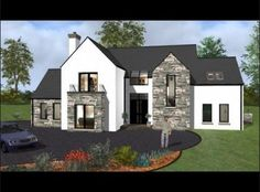 ICYMI: modern house designs ireland - House Plans, Home Plan Designs, Floor Plans and Blueprints Simple Bungalow House Designs, Bungalow Haus Design, Cool House Designs, Modern House Design, Bungalow Exterior, Dream House Exterior, Modern Exterior, Exterior Design, New House Plans