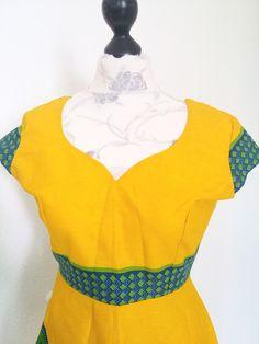 Bunt african sommer wax print kleid  von Urban-Apparel auf DaWanda.com