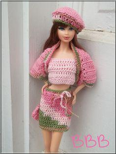 Barbie Clothes 5 Piece Outfit Pale by BarbieBoutiqueBasics
