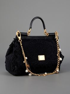 DOLCE & GABBANA  CROCHETED LACE BAG
