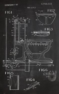Sheet 1of 2Art Print Chalkboard Poster Patent Design Patent Decoration Patent Art Patent Print