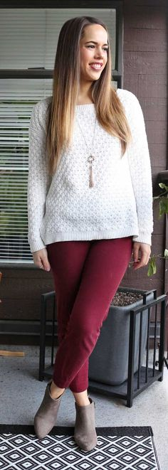 Jules in Flats - Old Navy Oversized Textured Sweater, Pixie Pants and Sueded Booties