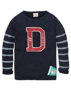 Worked-Out College Tee With Contrasting Sleeves > Kids Clothing > Boys > T-shirts at Scotch Shrunk