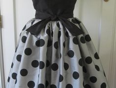 Spots Before My Eyes...... Dress and Tulle Petticoat..... VINTAGE INSPIRED