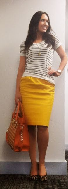 love the cheeta and yellow combo and purse!