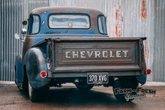 1954 Chevy 3100 - The Ultimate Rat Rod (Build – Farm Fresh Garage Ltd - Classic American Truck Parts Shop, Workshop & Rat Rods 53 Chevy Truck, Chevy Chevrolet, Rat Rod Build, Chevy Stepside, Weathered Paint, My Ride, Truck Parts, Antique Cars, Garage