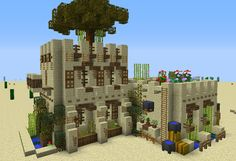 Medieval Desert House 2 - GrabCraft - Your number one source for MineCraft buildings, blueprints, tips, ideas, floorplans!
