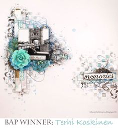 January BAP winner-Tehri Koskinen #bap #prima #scrapbook #challenge