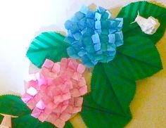 Origami Hydrangea 折り紙 あじさい