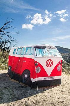 The Monster Factory VW Camper Van 4-Person Tent - Urban Outfitters