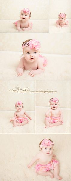 6 month baby photos in pink